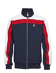 PARKER VINTAGE STYLE TRACK TOP - PEACOAT-RED-WHITE