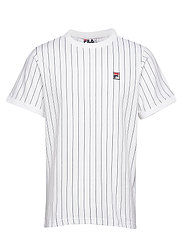 MEN GUILO STRIPED TEE WITH TRIPLE BINDING COLLAR - WHITE