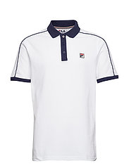 MEN KLEIN CONTRAST COLLAR AND PIPING POLO ( - WHITE