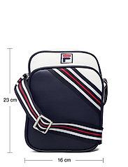 FILA - HERITAGE PUSHER BAG - sacs à bandoulière - black iris-bright white-true red - 4