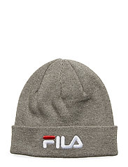 UNISEX BEANIE leniar logo - LIGHT GREY MELANGE BROS