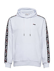 DAVID taped hoody - BRIGHT WHITE
