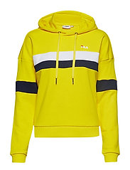 ELLA hoodie - EMPIRE YELLOW-BRIGHT WHITE-BLACK