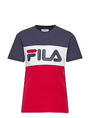 KIDS CLASSIC DAY blocked tee - BLACK IRIS-TRUE RED-BRIGHT WHITE