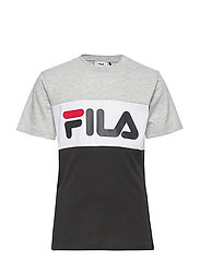 KIDS CLASSIC DAY blocked tee - LIGHT GREY MELANGE-BLACK-BRIGHT WHITE