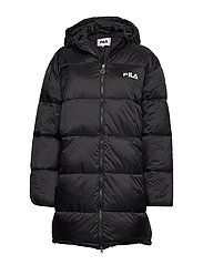 WOMEN BRONWEN puff hood jacket - 002 - BLACK