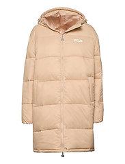 WOMEN BRONWEN puff hood jacket - IRISH CREAM