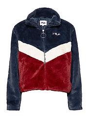 WOMEN CHARMAINE jacket - A248 - BLACK IRIS-RHUBARB-WHITECAP GRAY