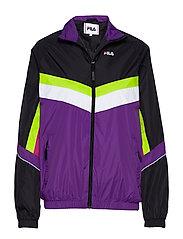 WOMEN RANSOM wind jacket - A241 - BLACK-TILLANDSIA PURPLE-BRIGHT WHITE-ACID LIME