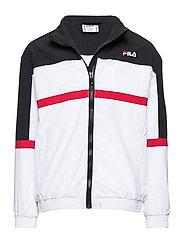 KIDS KAYAN wind jacket - BRIGHT WHITE-BLACK-TRUE RED