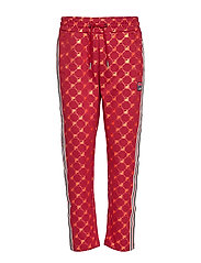 WOMEN GVANTSA AOP cropped pants - A259 - RHUBARB-MANDARIN ORANGE ALLOVER