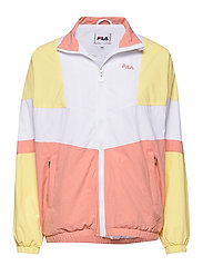 WOMEN BAKA woven track jacket - LIMELIGHT-BRIGHT WHITE-LOBSTER BISQUE