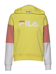 WOMEN BARRET cropped hoody - LIMELIGHT-BRIGHT WHITE-LOBSTER BISQUE