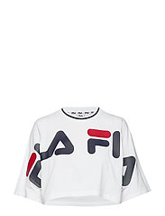 WOMEN BARR cropped wide tee - BRIGHT WHITE