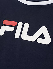 FILA - WOMEN SALOME tee - logo t-shirts - black iris-true red-bright white - 2