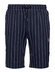 MEN HALL AOP shorts - BLACK IRIS