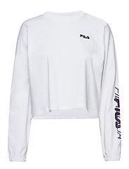 WOMEN CALANDRA cropped long sleeve shirt - BRIGHT WHITE