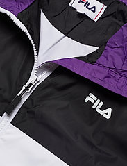 FILA - WOMEN CAGE cropped woven jacket - anoraks - black-bright white tillandsia purple - 5