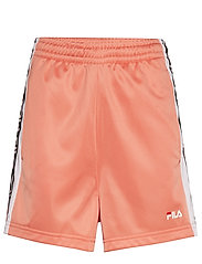 WOMEN TARIN shorts - high waist - LOBSTER BISQUE-BRIGHT WHITE