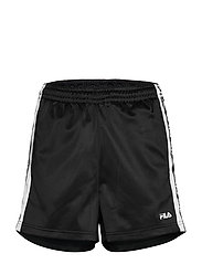 WOMEN TARIN shorts - high waist - BLACK-BRIGHT WHITE
