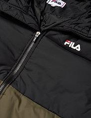 FILA - MEN TANNER tape puffer jacket - veste sport - grape leaf-black - 4