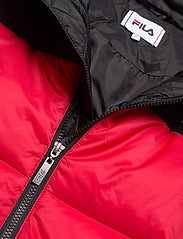 FILA - SCOOTER puffer jacket - veste sport - black-true red - 3