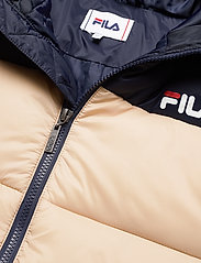FILA - SCOOTER puffer jacket - veste sport - irish cream-black iris - 3