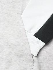 FILA - MEN ANALU blocked hoody - pulls a capuche - light grey melange bros-bright white-black - 3