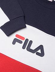 FILA - MEN AQIL blocked crew sweat - sweats - true red-black iris-bright white - 2