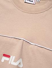 FILA - MEN ANOKI blocked tee - t-shirts - oxford tan-bright white - 2