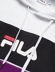 FILA - WOMEN AQILA blocked hoody - hættetrøjer - sparkling grape-bright white-black - 2
