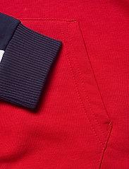 FILA - WOMEN AQILA blocked hoody - hættetrøjer - true red-black iris-bright white - 3