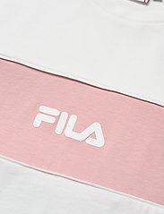 FILA - WOMEN ANOKIA blocked tee - t-shirts - blanc de blanc-pale mauve - 2