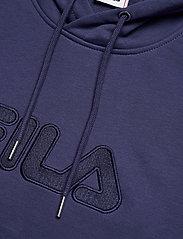 FILA - WOMEN FELICE oversized hoody dress - robes de jour - crown blue - 2
