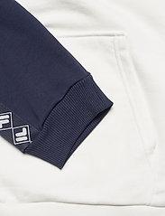 FILA - MEN HUDD raglan hoody - pulls a capuche - blanc de blanc-black iris - 3
