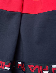 FILA - KIDS GIRLS CURLY taped sweat skirt - röcke - black iris-true red - 2