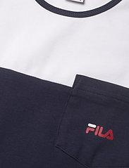 FILA - KIDS GIRLS DORY taped tee dress - jurken - black iris-true red-bright white - 2