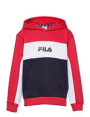 TEENS GIRLS TRACY hoody - BLACK IRIS-TRUE RED-BRIGHT WHITE