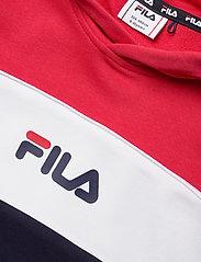FILA - TEENS GIRLS TRACY hoody - hoodies - black iris-true red-bright white - 2