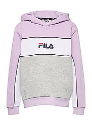 TEENS GIRLS TRACY hoody - LIGHT GREY MELANGE BROS-PASTEL LILAC-BRIGHTE WHITE