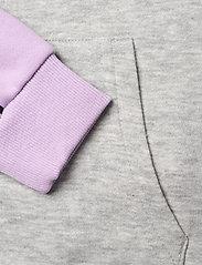 FILA - TEENS GIRLS TRACY hoody - hoodies - light grey melange bros-pastel lilac-brighte white - 3