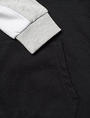 FILA - TEENS BOYS LEVI basic blocked hoody - kapuzenpullover - black-light grey mel.-bright white - 3