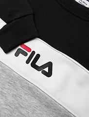 FILA - TEENS BOYS PEPE blocked crew - sweatshirts - light grey melange bros-black-bright white - 2
