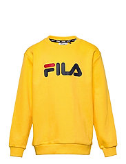 TEENS UNISEX VIOLO logo crew sweat - LEMON CHROME