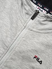 FILA - TEENS UNISEX NIKITA hooded zip jacket - hoodies - light grey mel bros-bright white - 2
