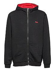 TEENS UNISEX NIKITA hooded zip jacket - BLACK-BRIGHT WHITE