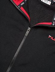 FILA - TEENS UNISEX NIKITA hooded zip jacket - hoodies - black-bright white - 2