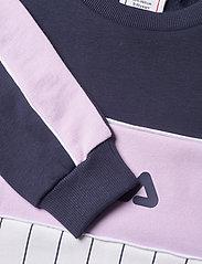 FILA - TEENS GIRLS SYLVIE blocked crew - sweatshirts - bright white-black iris-pastel lilac - 2