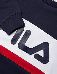 FILA - KIDS UNISEX CARL blocked crew sweat - sweatshirts - black iris-true red-bright white - 2