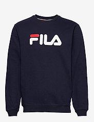 FILA - CLASSIC PURE crew sweat - sweats - black iris - 0